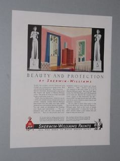 1936 SHERWIN WILLIA MS PAINT AD ROCKWELL KENT ART
