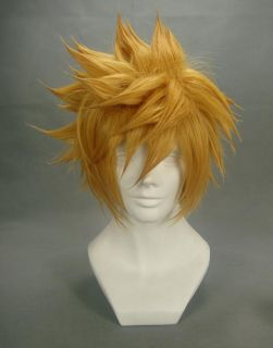 ) Kingdom Hearts VENTUS Final Fantasy Cloud Strife Blonde Cosplay Wig
