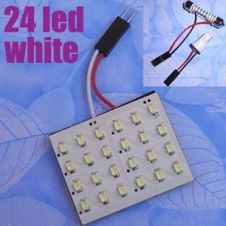 24 SMD 1206 T10 Car interior Dome Door LED Panel Light