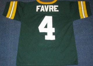 GREEN BAY PACKERS BRETT FAVRE NFL FOOTBALL VINTAGE BOYS YOUTH JERSEY(M