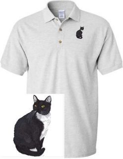 TUXEDO CAT DOG & CAT SHIRT SPORTS GOLF EMBROIDERED EMBROIDERY POLO