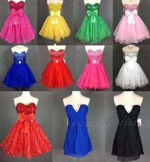 Bride Homecoming Short Cocktail Dress Formal Party Prom Size 6 8 10 12