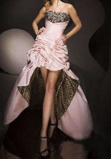 Stock Pink/Leopard Cocktail Dress Prom /Party Evening Dresses Size4+6