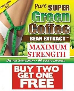 DOUBLE STRENGTH GREEN COFFEE BEAN EXTRACT, DIET SLIMMING PILLS, FREE