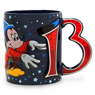 Disney World 2013 Sorcerer Mickey Mouse Ceramic Coffee Cup Mug NEW