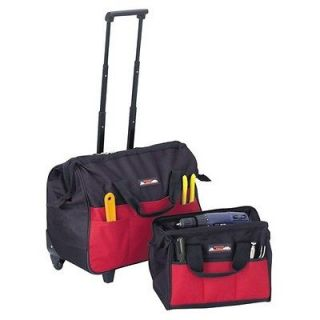 New 20 Rollaway Tool Bag With15 Carry Bag 2 Wheels 38 Extendable