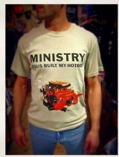 MINISTRY t shirt JESUS BUILT MY HOTROD butthole surfers