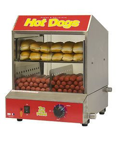 Commercial Hot dog Steamer Cooker Dog Pound Bun Warmer Machine 60048