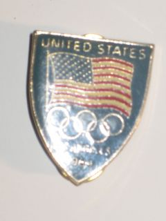UNITED STATES OLYMPIC TEAM COLLECTOR PIN*LOS ANGELES**FINE CONDITION