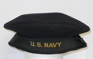 Vintage WWII U.S.Navy Sailors Wool Crackerjack Hat/Cap