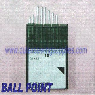10 Groz Beckert DBXK5 BALL POINT Commercial Embroidery Machine Needles