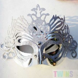 Red Crown Mardi Gras Masquerade Costume Venetian Ball Party Mask High