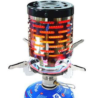 Mini Camping Stove Heater Warmer for Gas Burner Emergency Outdoor Tent