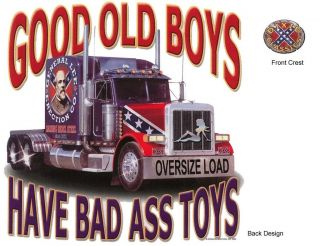 GOOD OLD BOYS HAVE BAD A** TOYS, Semi Truck, New Dixie T Shirt