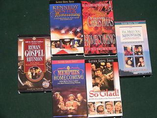 BILL & GLORIA GAITHER  LOT OF 6  VHS VIDEO TAPES/RymanGos​pelReunion