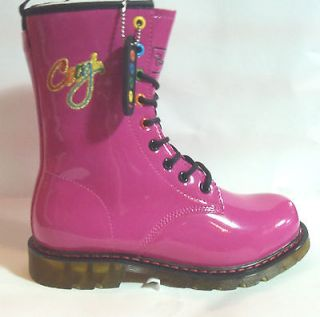 MIlitary Lace Up Coogi Boots For Women (pink)