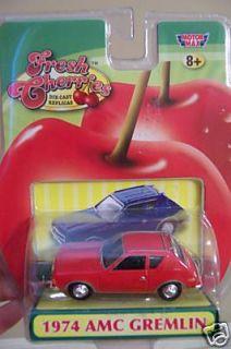 CHERRIES 1974 AMC RED GREMLIN MOTORMAX MINT REPLICA COLLECTOR CAR