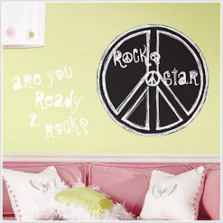 New ROCK N ROLL Chalkboard Wall Stickers Kids Decals