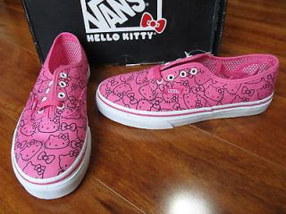 NEW VANS Authentic Hello Kitty CANVAS SKATE SHOES Girls Kids sz. 2.5