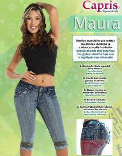 Capri Jeans Levanta Cola VS, uselos con Fajas Colombianas