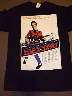 ELVIS COSTELLO Japan Japanese T Shirt **NEW tour band concert music Sm