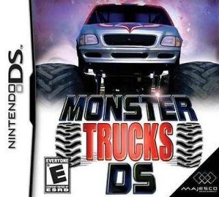 Monster trucks for Nintendo DS & DS LITE video games consoles