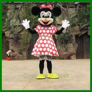 New Minnie Mouse Mascot Costume Adult size Party Costume X 1PC