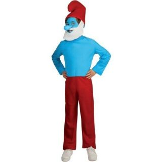 NWT Papa Smurf Costume Boy Child Blue Makeup Nose Jumpsuit BEARD Hat 6