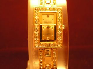 3pt8 COTE d AZUR WOMEN LADIES ANALOG QUARTZ WATCH GOLD TONE