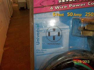 New Smart Choice 4 Wire Range Power cord universal 50 amp 250v 6 feet