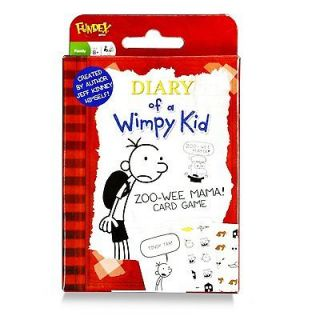 JEFF KINNEY DIARY OF A WIMPY KID ZOO WEE MAMA CARD GAME NEW N BOX FREE