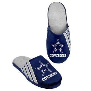 Dallas Cowboys NFL Football Team Stripe Big Logo Slippers 2012 Hard