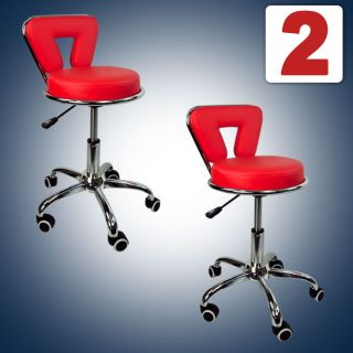 Working Stools Doctor Medical Dentist Salon Spa Nurse Red Chair PU