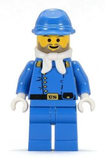 LEGO Western CAVALRY LIEUTENANT Civil War Minifig Minifigure 6716