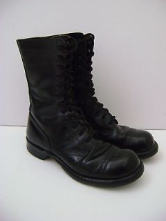 WWII AIRBORNE PARATROOPER CORCORAN JUMP COMBAT LEATHER BOOTS 8 D / 8D