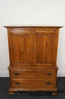 listed ETHAN ALLEN Heirloom Nutmeg 42 Chest on Chest Armoire 10 5215
