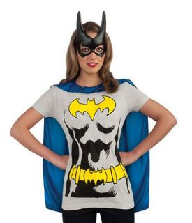 Batgirl Adult Costume Kit Size M Medium T Shirt Cape Mask NEW Batman