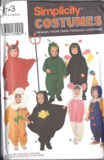 Vintage Sewing Pattern Toddler Halloween Costume 9743 Design FF