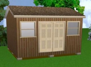 14x16 Storage Shed Plans Package, Blueprints + MORE