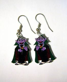COUNT VON COUNT DRACULA EARRING SESAME STREET CHARM