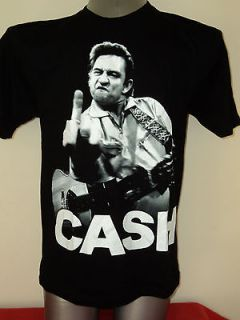 JOHNNY CASH   Giving the Finger   Band/Rock Music T Shirt