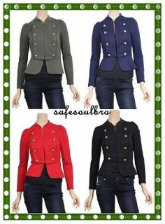 BN LADIES SEMI FITTED MILITARY/ARMY STYLE JACKET/COAT SIZE 6~20 NEXT
