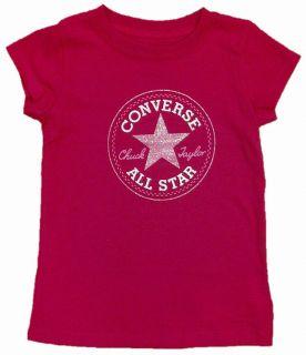 New 2012 Converse Girls Baby Pink Crew Neck Heart Boots T shirt