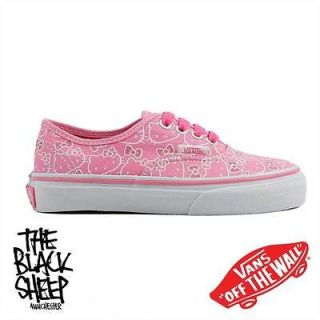 VANS AUTHENTIC HELLO KITTY PINK/TRUE WHITE KIDS TODDLER PLIMSOLE