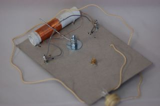 OWN CRYSTAL RADIO SET kit of parts CATS WHISKER, FOX HOLE RECEIVER