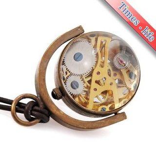 Newly listed Brass Sphere Pocket Watch Mechanical Handwind Turntable