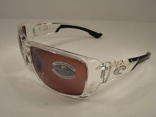 COSTA DEL MAR SUNGLASSES DOUBLE HAUL CRYSTAL/SILVER GLASS DH39 OSCGLP