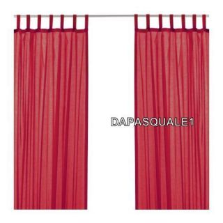 IKEA WILMA   Pair of Curtain Window Panels Solid Bright Red Cotton NEW
