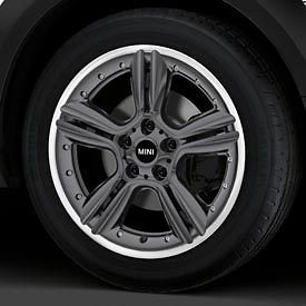 MINI Cooper Countryman 18 R127 Anthracite Double Spoke Rim Wheel OEM