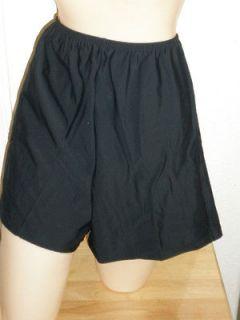 Womens plus size swimwear Tankini SWIM SHORTS size 18w to 32w Black